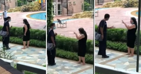 Caught On Video: Woman Without Mask On Screams At Man To 'Go To Hell'