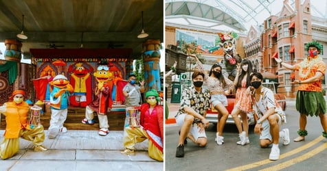 Soak In The Colourful Summer Fun At Universal Studios Singapore With The New Sesame Street Goes Bollywood  Show And More!
