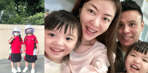 Lynn Hung Shares Pictures Of Her Daughters In Their New School Uniform