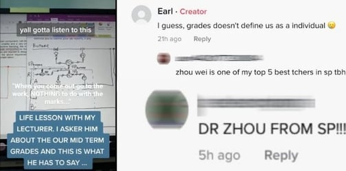 'Nothing To Do With Marks': Singapore Poly Lecturer Gets Real On School Grades During Online Lesson