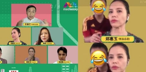 Zoe Tay's Kid Barges Into Her Virtual PC, Making 'Ah Jie' Look Visibly Furious