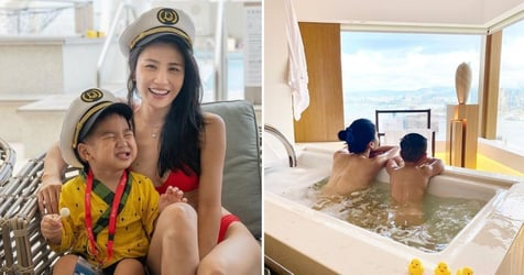 Ex TVB Actress Coffee Lam Receives Backlash For Being Naked With 3-Year-Old Son In Bathtub