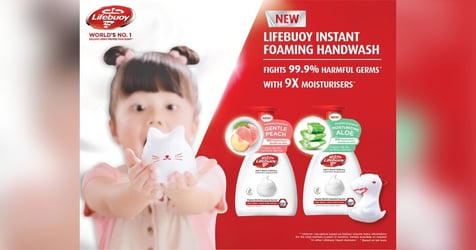 Make Handwashing A Foamy And Fun Experience With Lifebuoy's NEW Antibacterial Instant Foaming Handwash