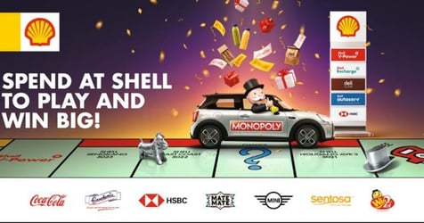 Mr. Monopoly Drives Into Shell To Bring Customers Spectacular Prizes And Many Ways To Win Big