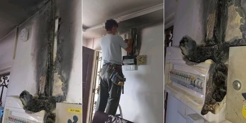 Singapore Man Shares Home Safety Tips After Dad's Electrical Box Catches Fire