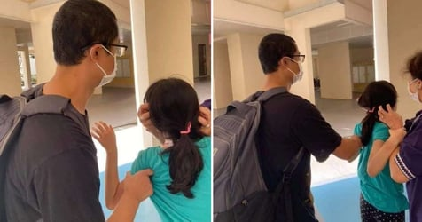 """Parents """"Aggressively Hit"""" Daughter In Public At HDB Void Deck, Passerby Tries To Stop Them"""