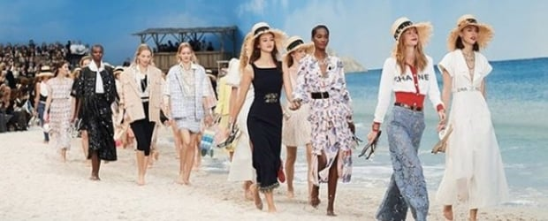 Paris Fashion Week: Karl Lagerfeld Makes Waves With His Oceanic Chanel Show