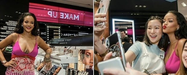 Surprise! Rihanna Just Casually Dropped By Sephora At ION Orchard Mall