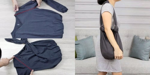 7 ways to make a no-sew bag out of T-shirts