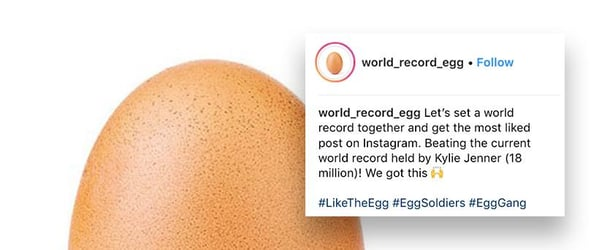 Instagram's most-liked post ever is a picture of an egg