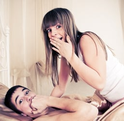 Man catches cheating girlfriend instead of ghost