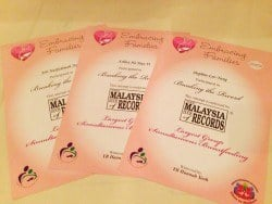 Gift of Love Bazaar 2013 - Malaysia Book of Records