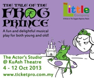 The Tale of the Frog Prince comes to Malaysia. Win free tickets here!