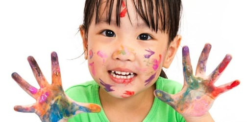 Fun Toddler Projects: Mess Free Finger Painting