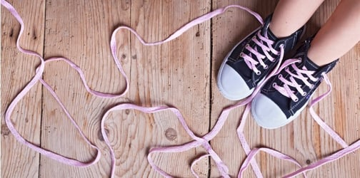 Genius Way To Teach Your Kids To Tie Their Shoe Laces