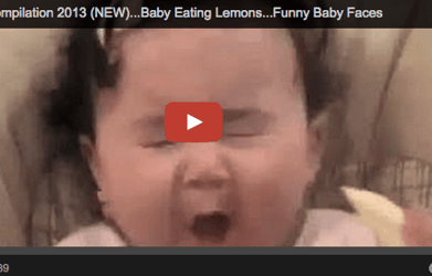 Sour lemon? Yes, please! Funny baby video