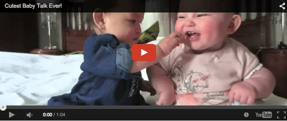 Funny baby video! Watch the cutehearts talk and LOL