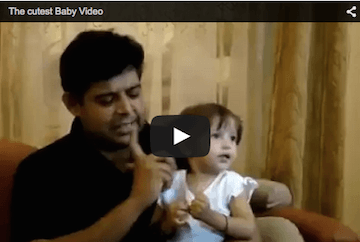 Funny baby video! Li'l girl gets all animated