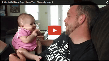 Adorable baby video: Lil' girl says 'I love you'