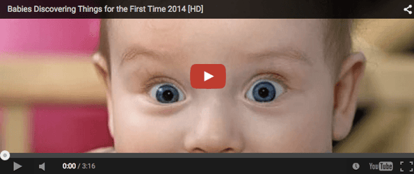 Funny baby video: Babies discovering things