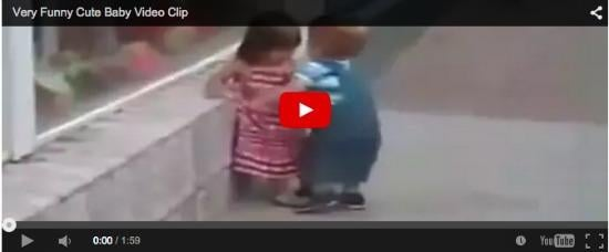 Funny baby video: Boy-girl conflict starts young