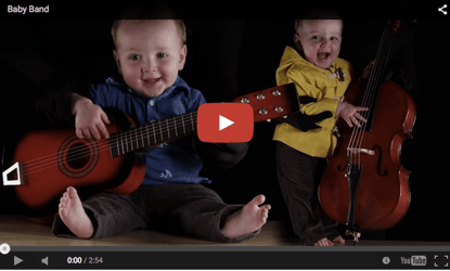 Cute baby video: Rockstar in the making