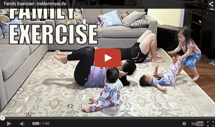Funny baby video: An attempt at exercising!