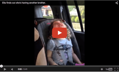 Funny baby video: Another brother? Nooo!