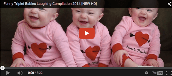 Triplets on a giggle fest will melt your heart!