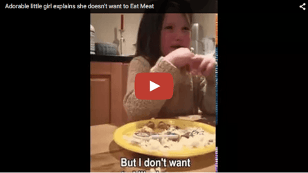 Hear why this 5-yr-old won't eat meat, and you may give it up too