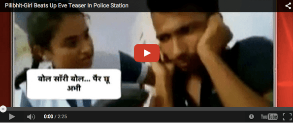 UP girl thrashes eve-teaser as cops watch on!