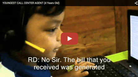 This 4-yr-old call centre agent will leave you astonished and how