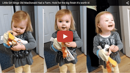 2-yr-old sings 'Old Mc'Donald had a farm' in the cutest way possible