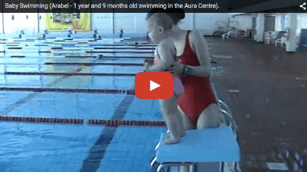 20 month old baby swims like a fish. OMG!