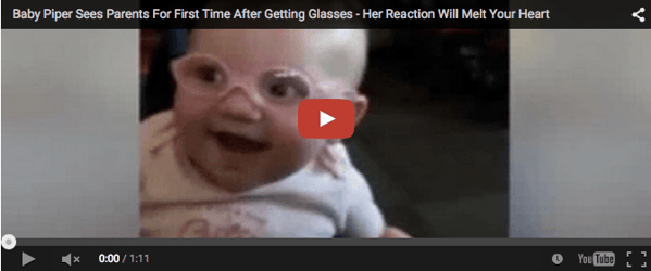When this baby sees her parents for the first time... Preciousness!