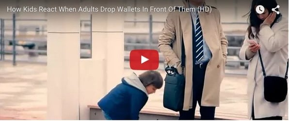 How kids react when adults drop wallets? This will amaze you