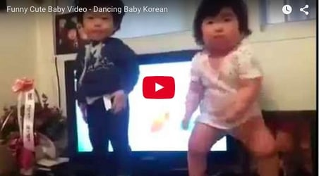 Watch the little one rock the floor in style: Funny baby video
