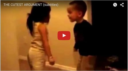 We bet, this is the cutest argument ever: Funny baby video