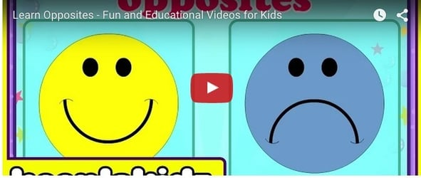 Learn opposites in fun way: Educational video for toddlers