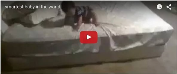Smartest baby in the world: What he does to get out of the bed will shock you
