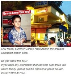 2-year-old abandoned in an eatery in Mumbai