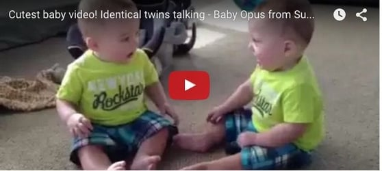 Watch these identical twins talk! Hilarious