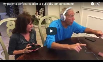 Dad loses his mind after hearing the baby announcement