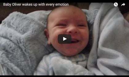 This baby wakes up with every emotion known to man
