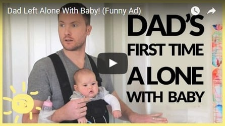 Dad's first time alone with baby: See what all happens