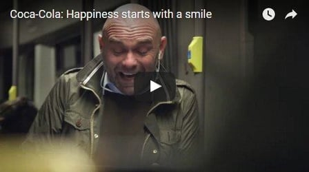 He starts laughing in the train and everyone else follows suit. See why