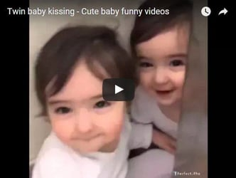 These twins just can't get enough of one another