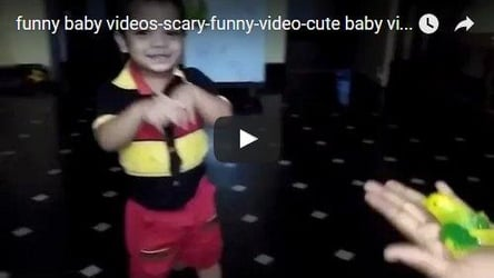 This kid's reaction when someone tries to scare him is priceless