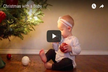 How is it to celebrate Christmas with a baby. Watch