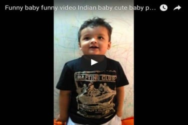 This cute little Indian boy is on a poem-telling spree